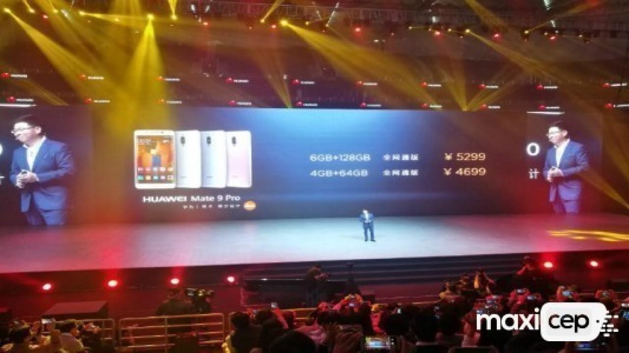 Huawei Mate 9 Pro 5.5 inç Dual Edge Ekranla Duyuruldu