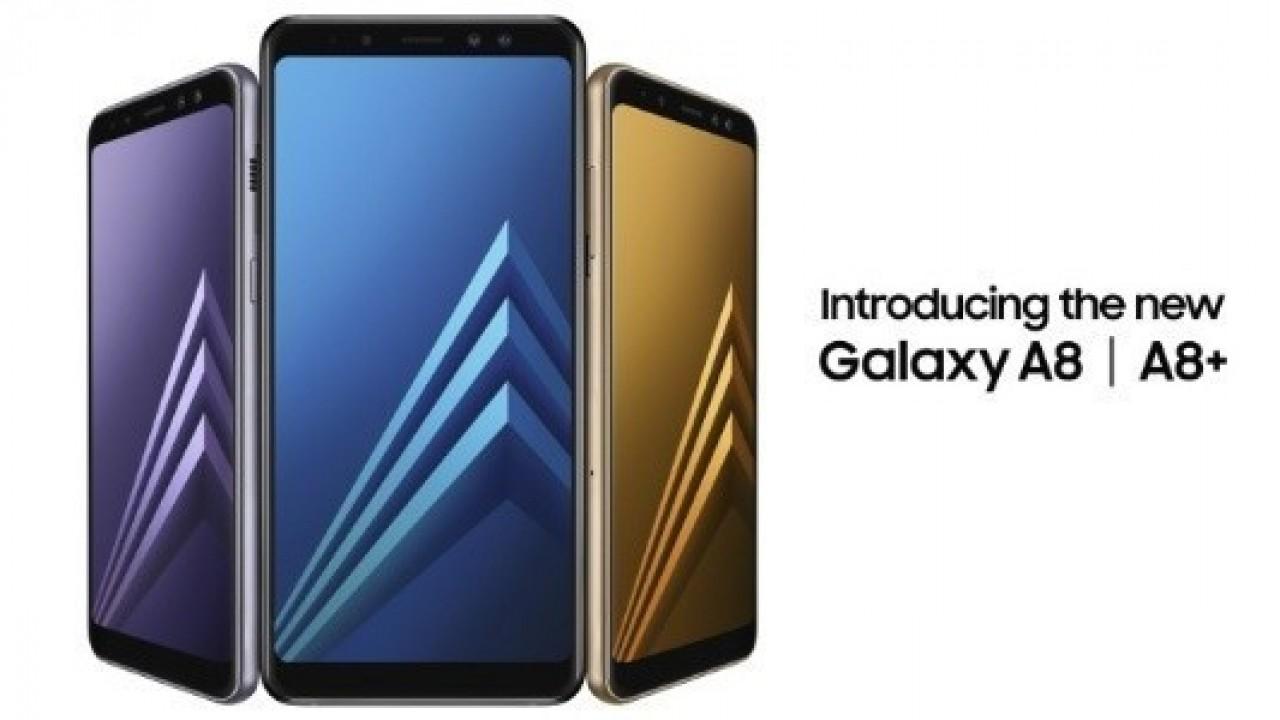Samsung Galaxy A8 (2018) ve A8 + Infinity Display ve çift ön kamera ile Duyuruldu