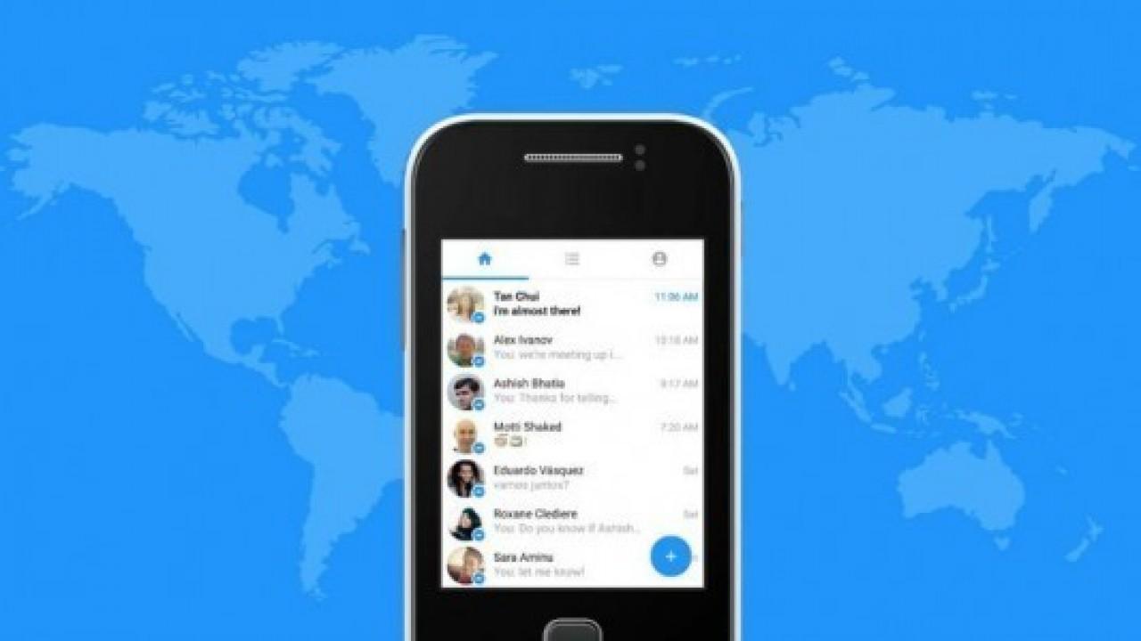 Messenger Lite, Türkiye'de kullanıma sunuldu