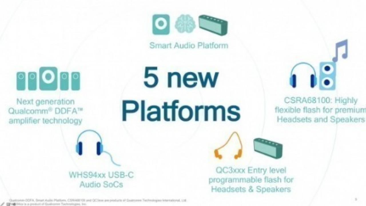 Qualcomm, Akıllı Hoparlörler, USB-C Kulaklıklar ve Daha Fazlası için İşlemcilerini Tanıtıyor