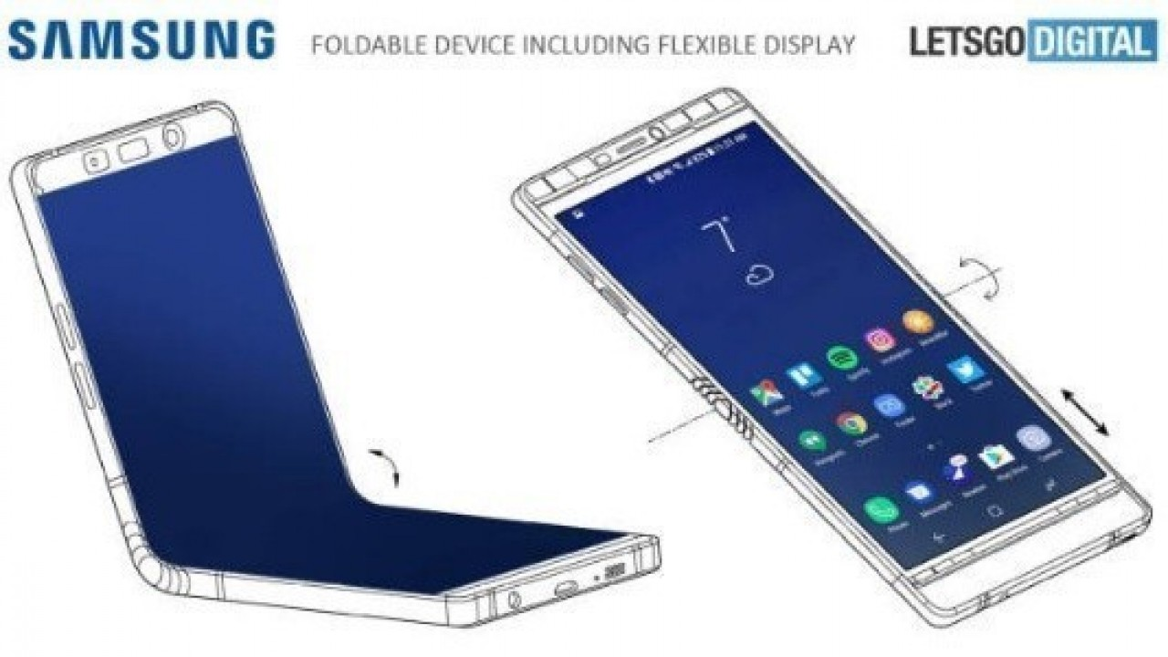 Sızdırılan Görüntü, Katlanabilir Samsung Galaxy X'in Tasarımı Olabilir