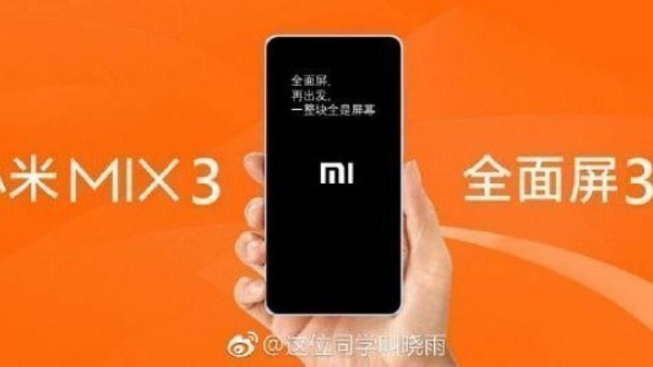 Xiaomi Mi Mix 3, 15 Ekim Tarihinde Tanıtılabilir