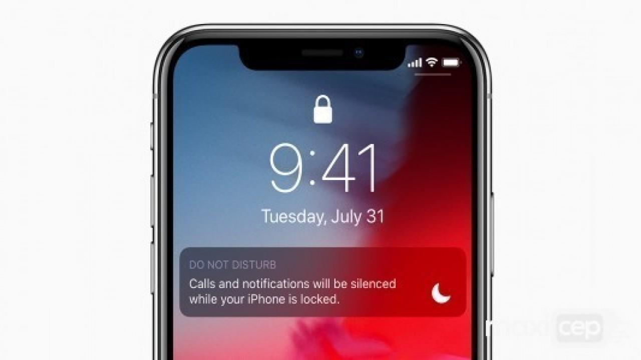 iPhone X, XR, XS ve XS Max'da rahatsız etme modu nasıl kullanılır?