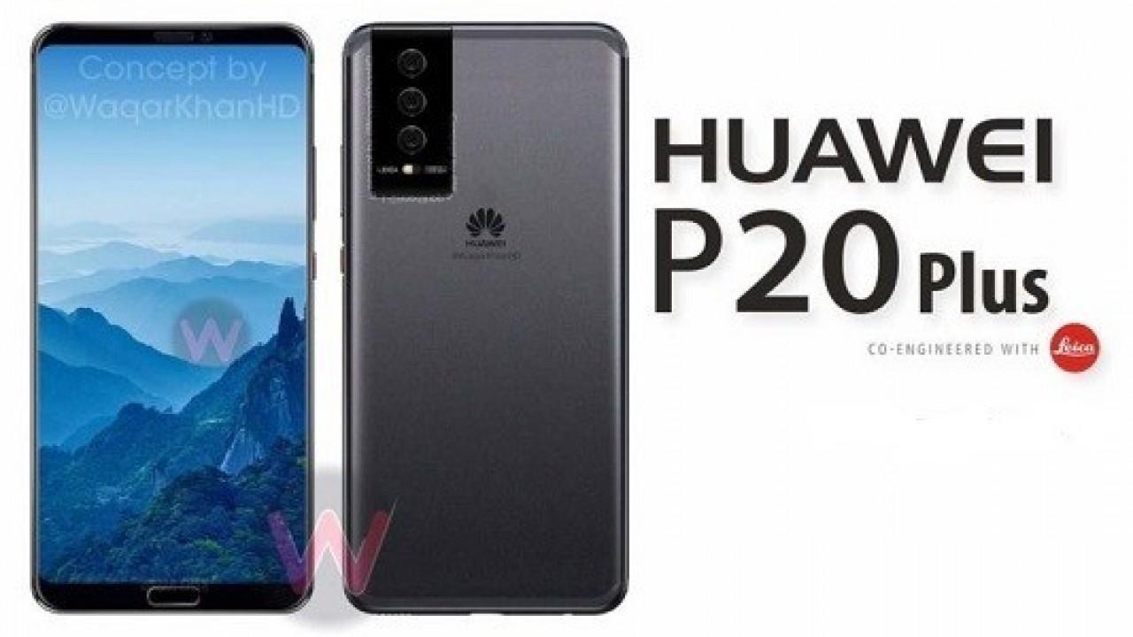 Huawei P20 Plus Üçlü Kamerası ve iPhone X Benzeri Çentiği İle Ortaya Çıktı