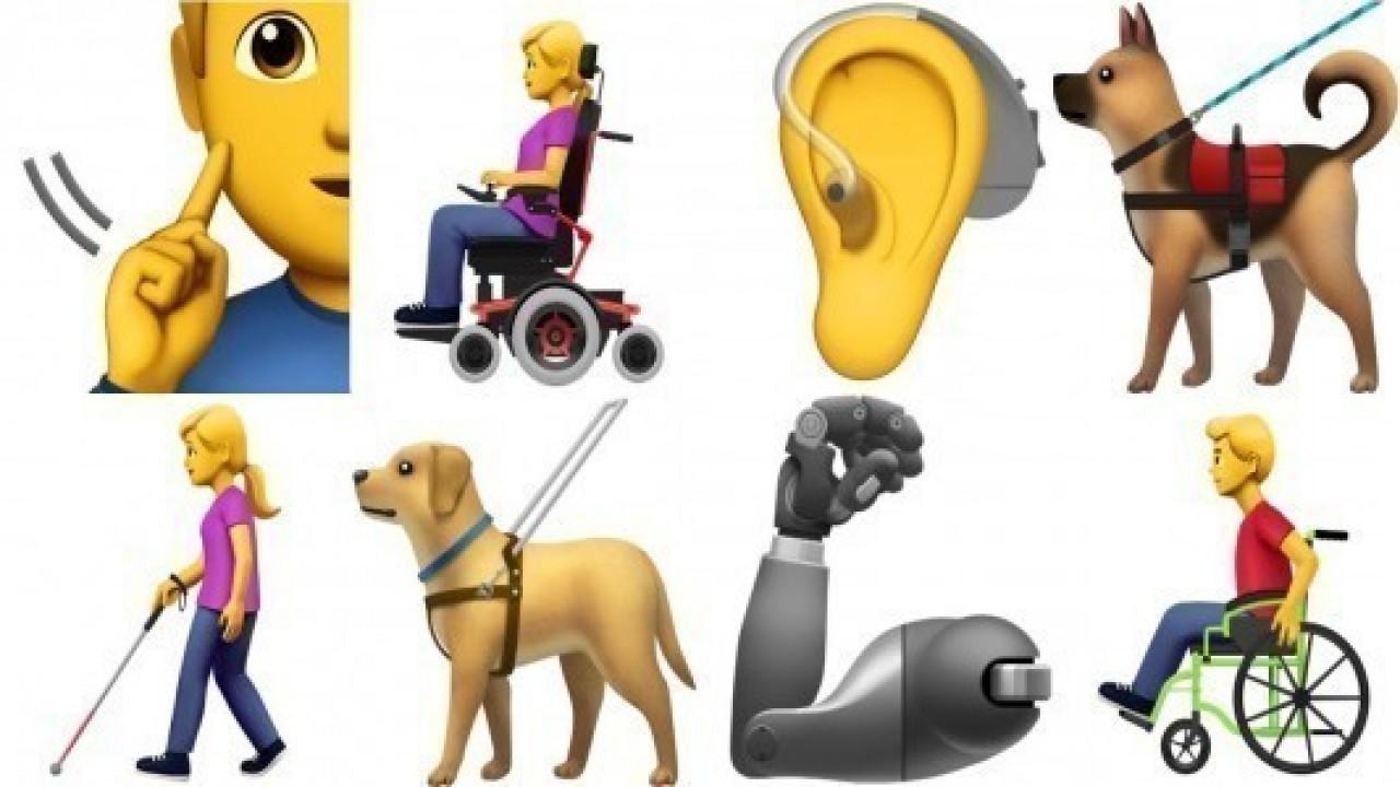 Apple'dan, engelli bireyler için yeni emojiler