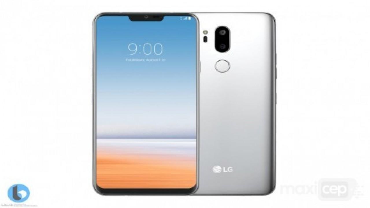 LG G7'nin ön yüzü, iPhone X'i çok andıracak