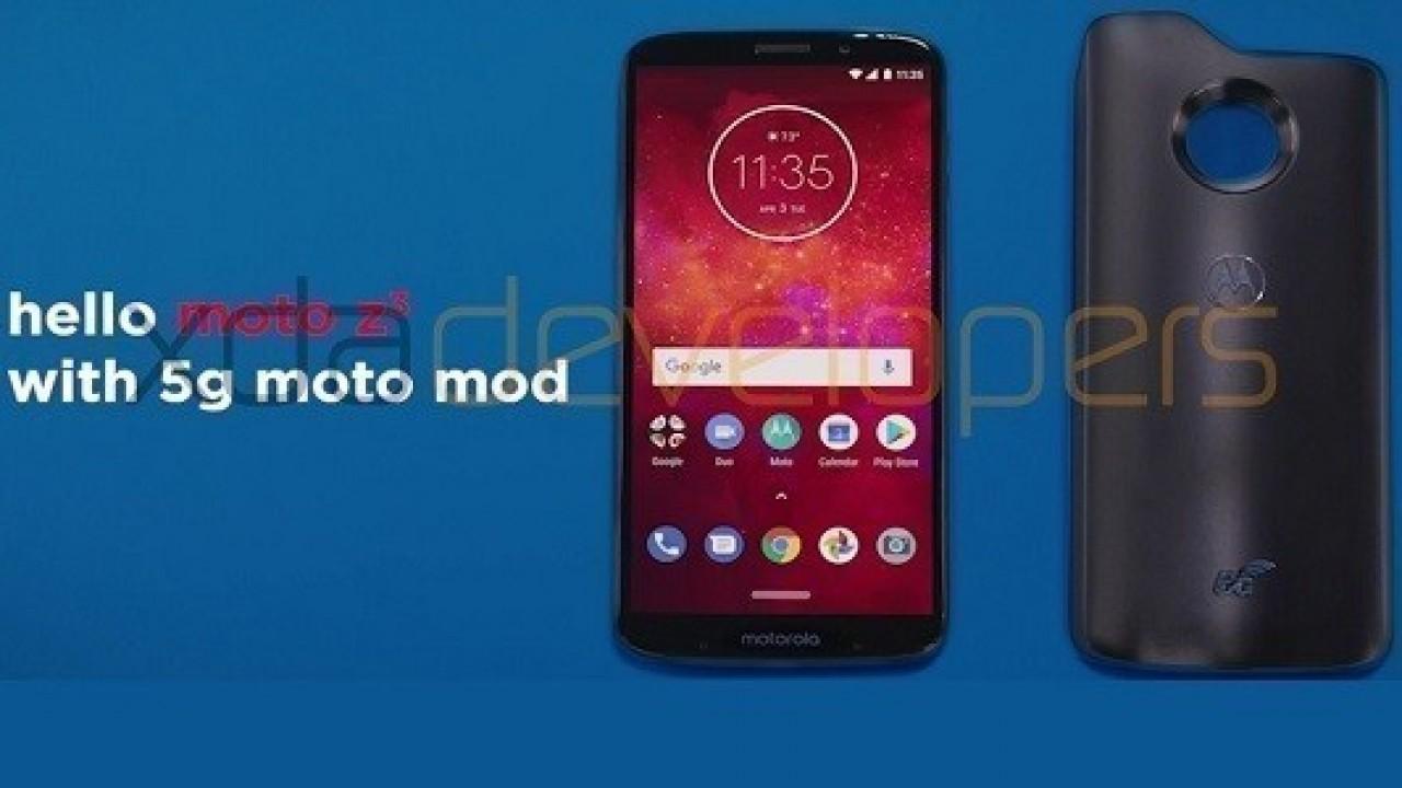 Moto Z3 Play 5G Moto Mod İle Birlikte Geliyor