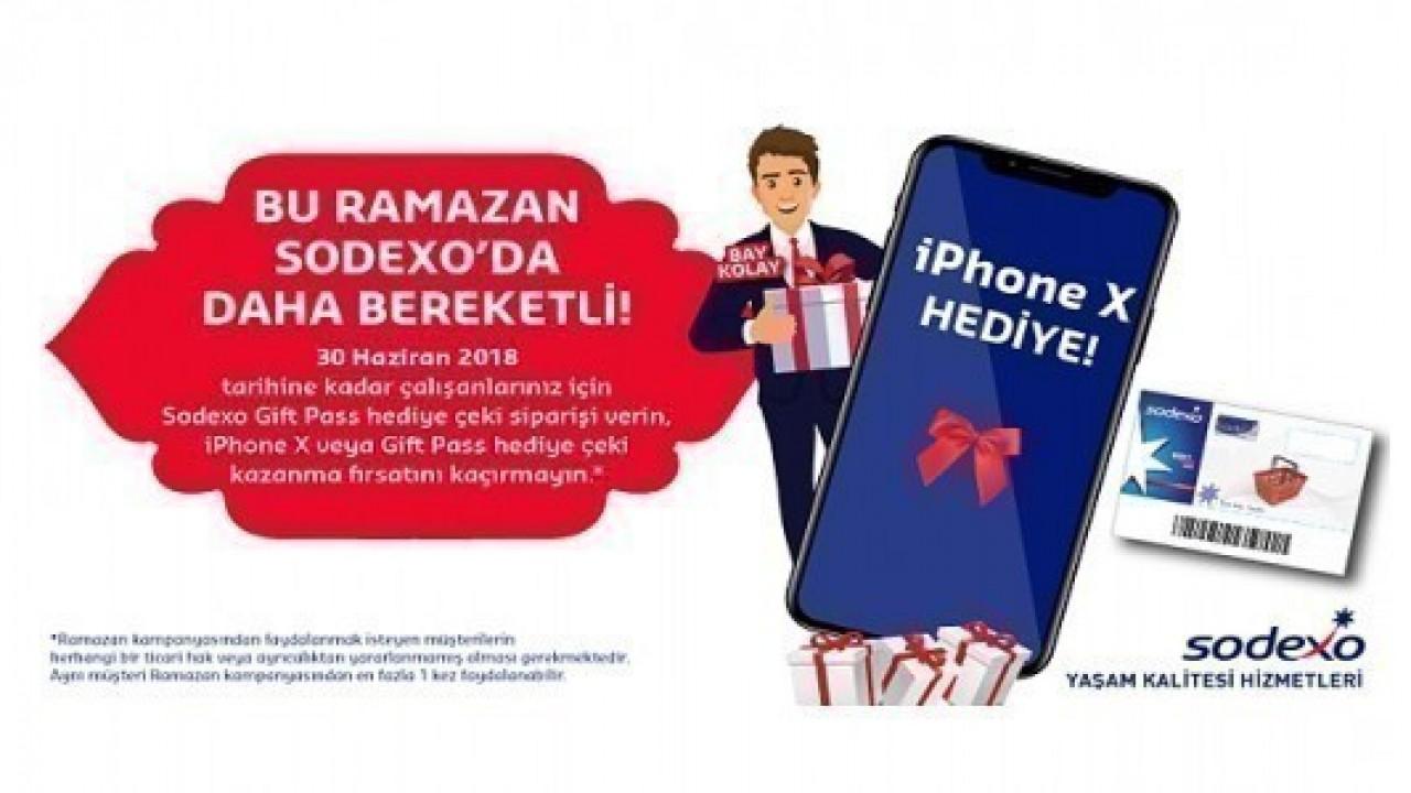 Sodexo, Ramazan'da iPhone X hediye edecek