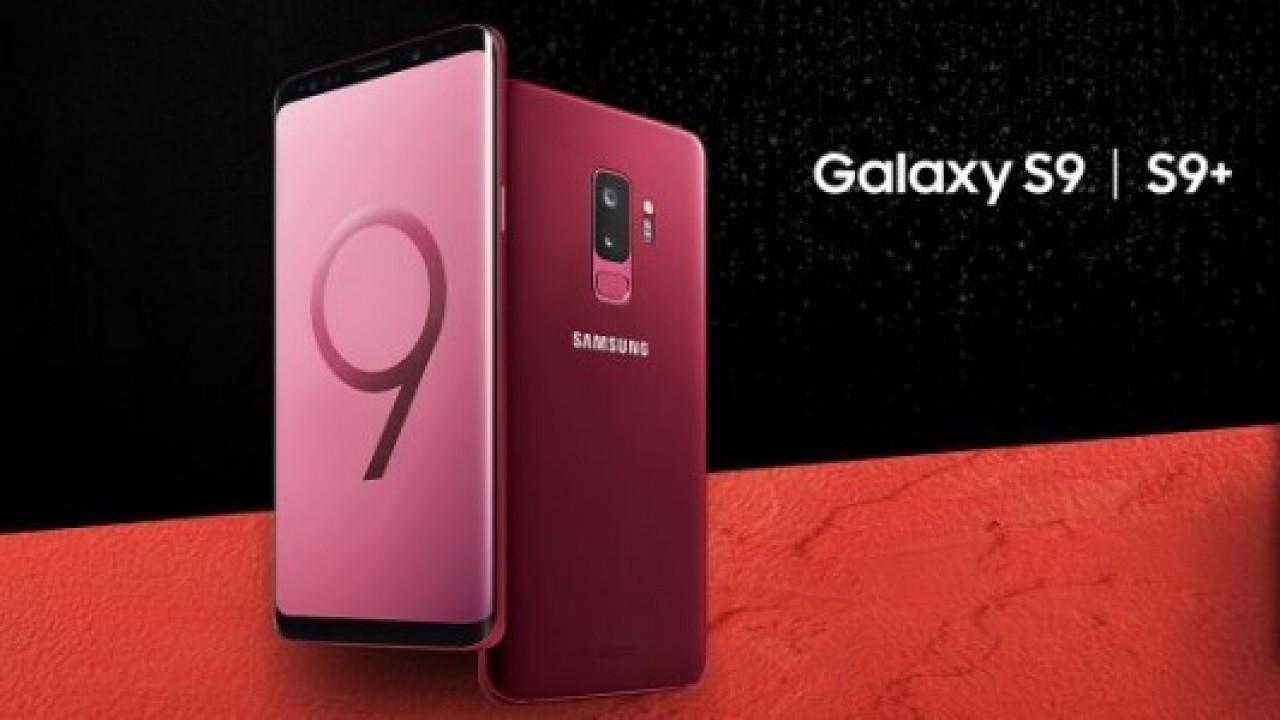 Galaxy S9 ailesi bordo rengiyle daha havalı