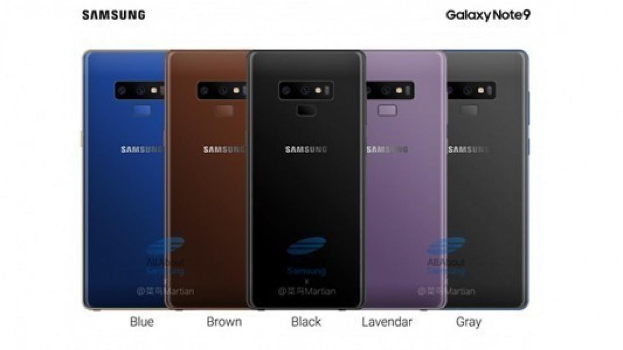 Note 9farklı renk seçenekleriyle birlikte görüntülendi