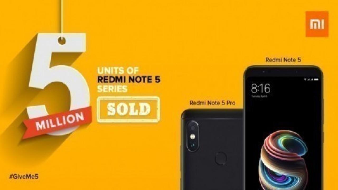 Xiaomi Redmi Note 5 ve Note 5 Pro Satışları 5 Milyonu Geçti