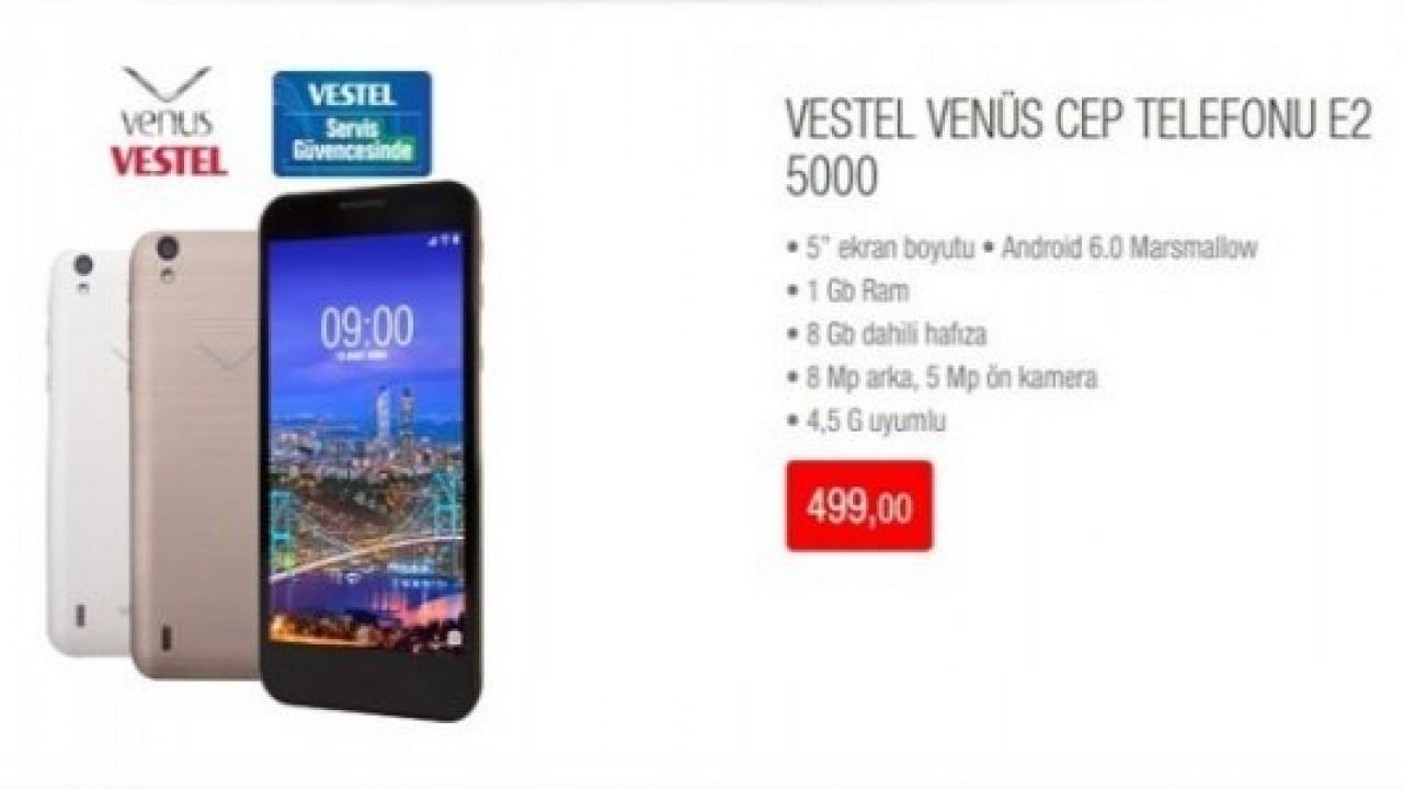 Vestel Venus 500, BİM Mağazaları'nda satışa çıkıyor