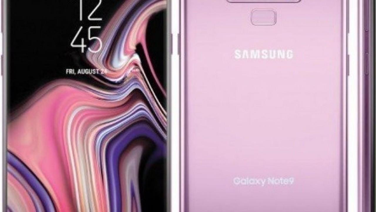 Mor Renkli Galaxy Note9'un Basın Görseli Sızdırıldı