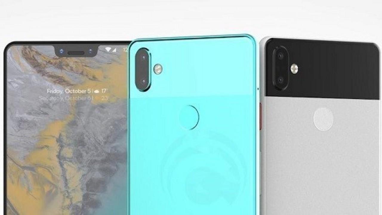 Google Pixel 3 XL'nin Tasarımı Yeniden Bir Render Görüntüsünde Ortaya Çıktı