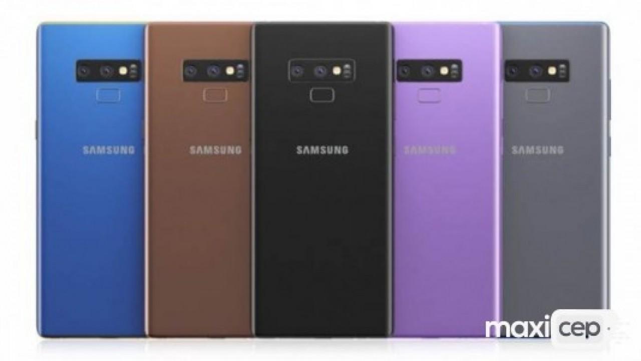 Galaxy Note 9'un 5 farklı renk seçeneği olacak