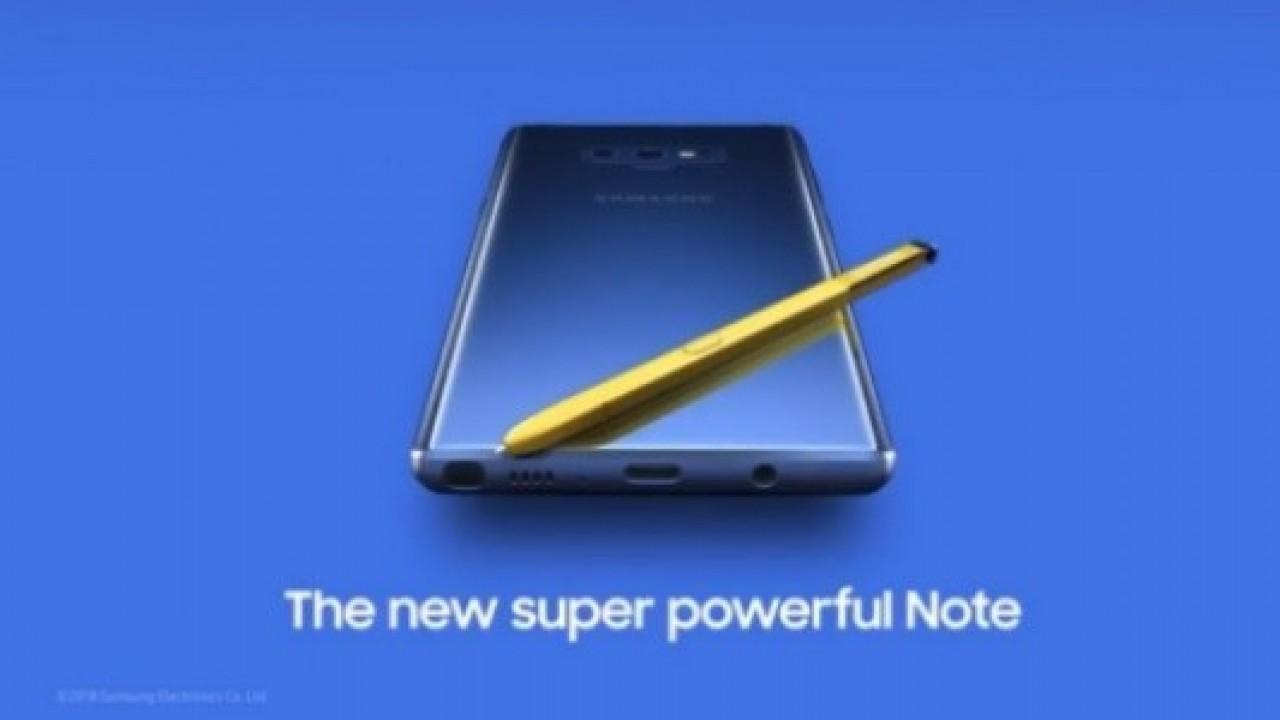 Samsung, Galaxy Note 9'un Videosunu Youtube'da Yayınladı