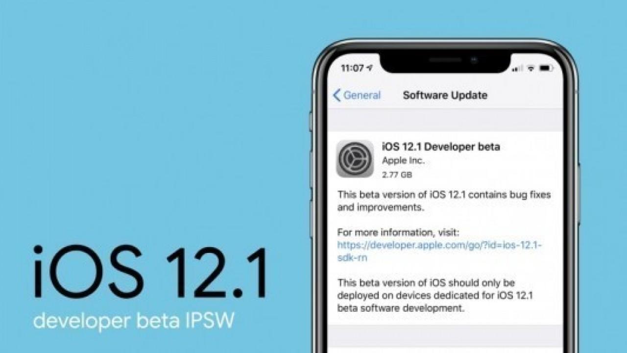 iOS 12.1 geliştirici beta sürümü yayınlandı