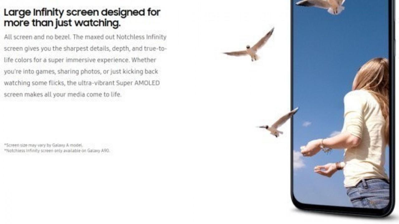 Galaxy A90'ın Uçtan Uca Ekranı, Ekran Koruyucu Görseli ile Doğrulandı