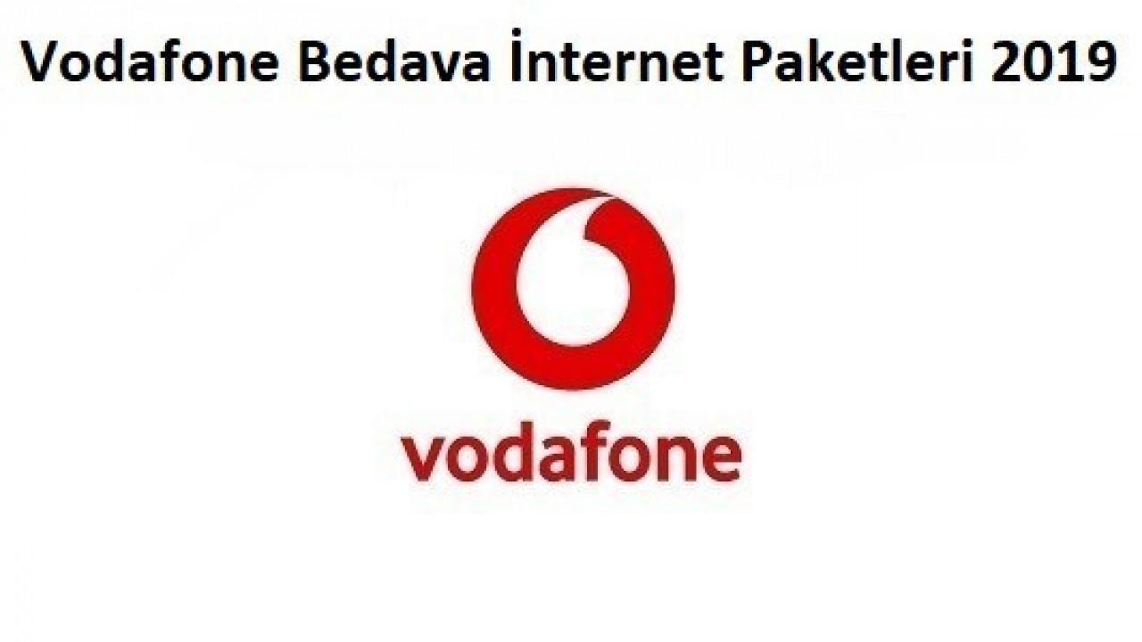 Vodafone 2019 Bedava İnternet Paketleri