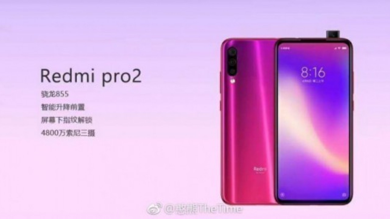 Redmi Pro 2, Snapdragon 855 ve Pop-up Kamera İle Geliyor