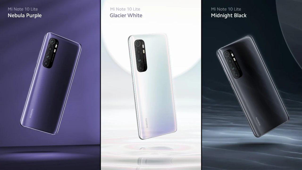 Xiaomi Mi Note 10 Lite resmi olarak duyuruldu
