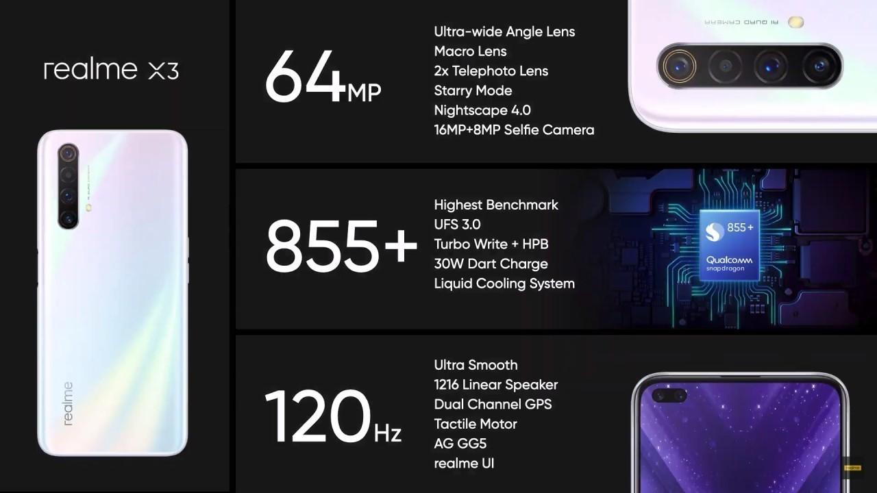 Realme X3 resmi olarak duyuruldu