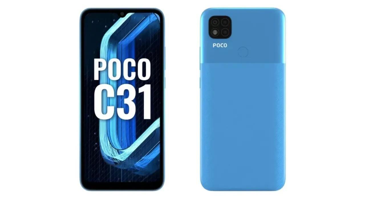 Poco C31 resmi olarak duyuruldu