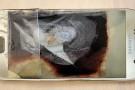 Galaxy S6 altı aylık bebeğin yanında yandı