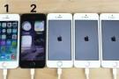 iOS 7'den, iOS 11'e kadar tüm sürümler karşı karşıya