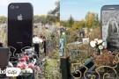 Kızına iPhone 6 benzeri mezar taşı yaptırdı