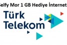 Turk Telekom Selfy Mor ile Hediye 1 GB İnternet