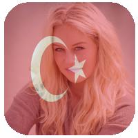 Türk bayrağı içinde resim