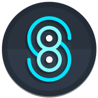 Nightmare Sphere - Dark S8 Icon Pack