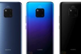 Huawei Mate 20 Pro'nun Üç Renk Seçeneğini Ortaya Koyan Görselleri Sızdırıldı