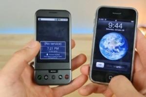 İlk iPhone ile ilk Android karşı karşıya geldi