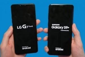 LG G7 ile Galaxy S9 kamera, hız ve batarya testinde