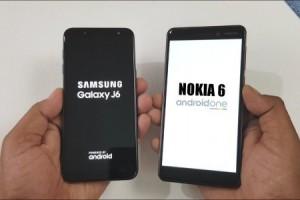 Galaxy J6 ile Nokia 6 (2018) modeli hız testinde karşı karşıya