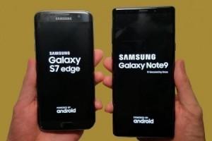 Galaxy S7 edge ve Galaxy Note9 karşı karşıya