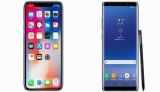 Galaxy Note 8 ile iPhone X hız testinde