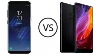 Samsung Galaxy S8 ile Xiaomi Mi Mix'in ekran karşılaştırması