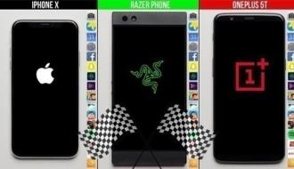 iPhone X, Razer Phone ve OnePlus 5T hız testinde