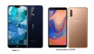 Galaxy A7 2018 ile Nokia 7.1 hız testinde