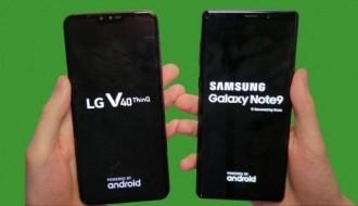 Galaxy Note 9 ve LG V40 tüm testlerde karşı karşıya