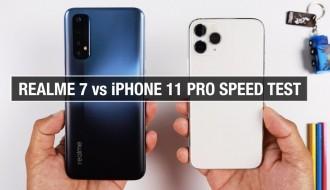 Realme 7 ve iPhone 11 Pro Hız Testi
