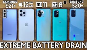 Galaxy S21 Plus, Xiaomi Mi 11, iPhone 12 Pro Max, OnePlus 8T ve S20 Plus Batarya Testi