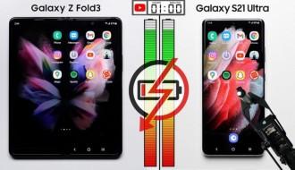 Galaxy Z Fold 3 ve Galaxy S21 Ultra Batarya Testi