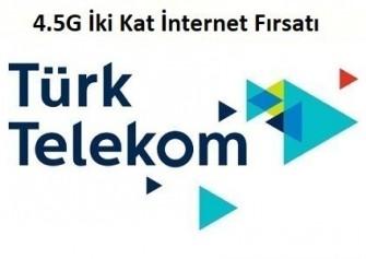 Türk Telekom 4.5G İki Kat Bedava İnternet