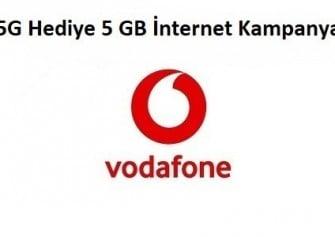 Vodafone 4.5G SIM 5 GB Hediye İnternet Paketi