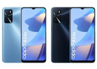 Oppo A54s resmi olarak duyuruldu