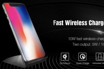 Gearbest Şarj Standlarından TOCHIC 10W/5W Kablosuz Şarj Aleti